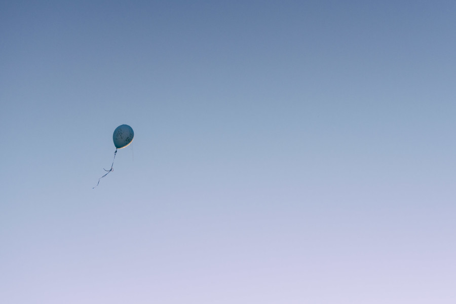 Blue Balloon in the sky